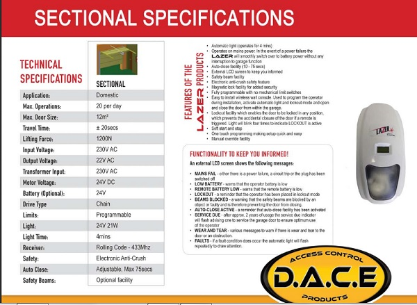 Gate Repairs Durban Recommended Dace Lazer Sectional Garage Door Specifications