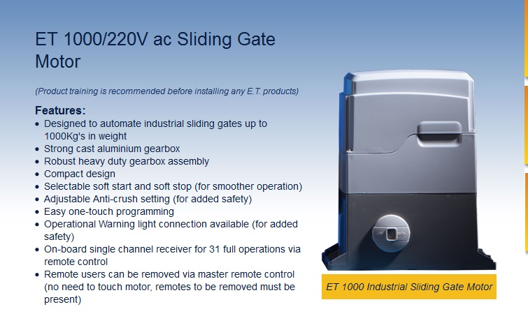 Sliding Gate Motors Durban